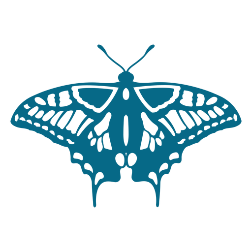 Butterfly wing detailed silhouette Transparent PNG