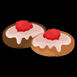 Cake cherry pastry flat