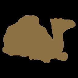 Silhueta de corcunda de corcunda de camelo
