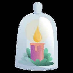 Ilustración de juguete a la luz de las velas