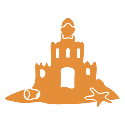Castle sand detailed silhouette