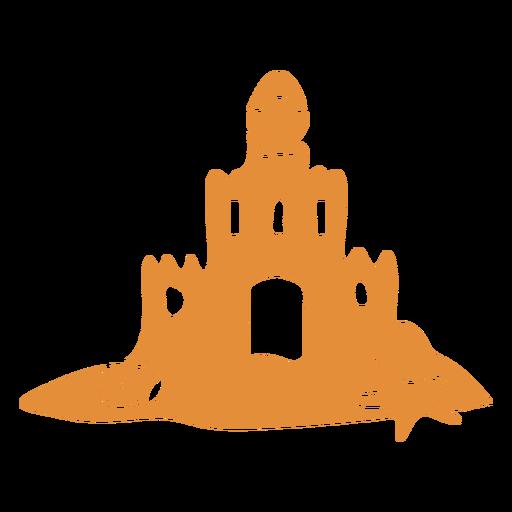 Castle sand detailed silhouette Transparent PNG