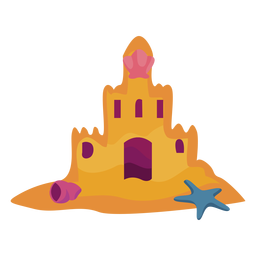 Castillo de arena plana