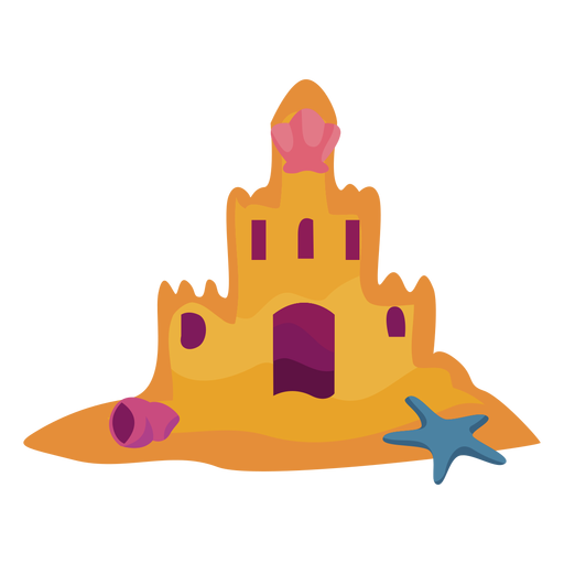 Castle sand flat Transparent PNG