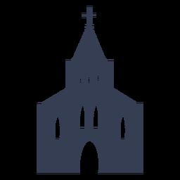 Catedral iglesia templo silueta detallada