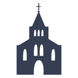 Catedral igreja templo silhueta detalhada