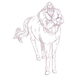 Centauro hombre caballo ilustración