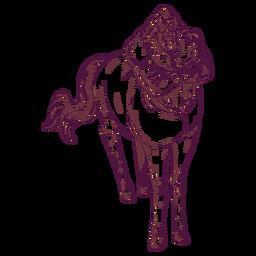 Ilustração de cavalo homem centauro