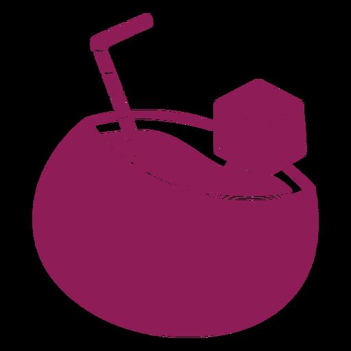 Silueta detallada de paja de cóctel Transparent PNG