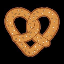 Coockie bagel coração plana