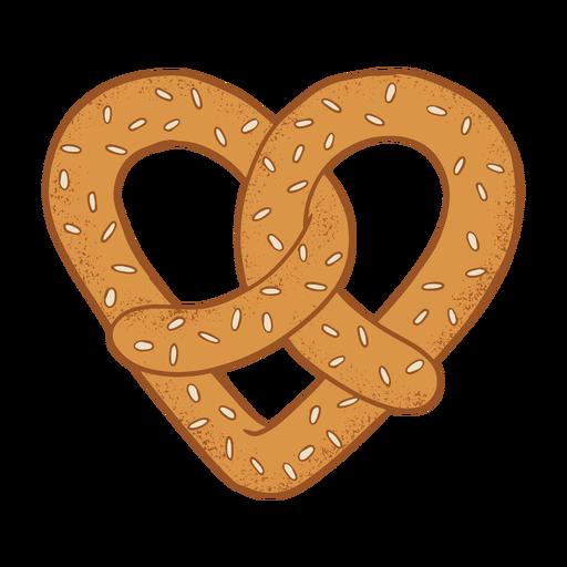 Coockie bagel coração plana Transparent PNG