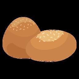 Coockie pastelaria gergelim plana