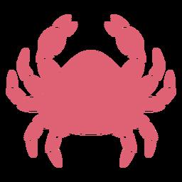 Ausführliche Silhouette der Krabbenklaue