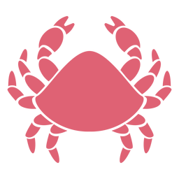 Silhueta detalhada de garra de caranguejo