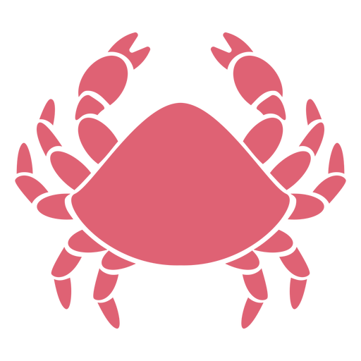 Crab claw detailed silhouette Transparent PNG