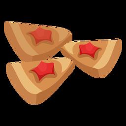 Cracker coockie pastry flat