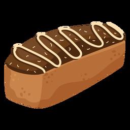 Cream bread loaf flat