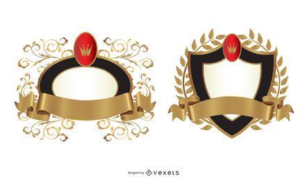 Modelo de emblema elegante