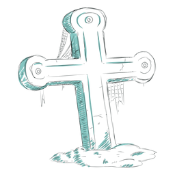 Cross gave line illustration