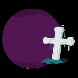Cross grave sticker badge