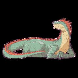 Ilustración de color de color de reptil dragón