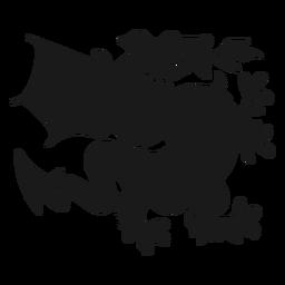 Silhueta de cauda de asa de dragão