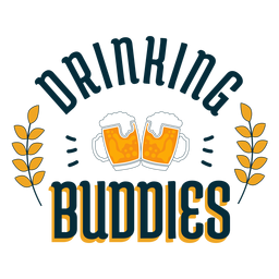 Drinking buddies badge sticker