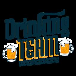Adesivo de emblema de equipe bebendo