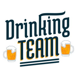 Drinking team badge sticker