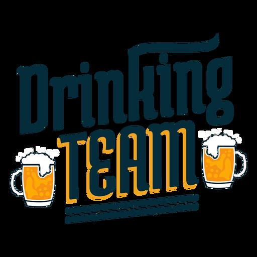 Drinking team badge sticker