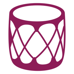 Silhueta detalhada de tambor chaleira tambor