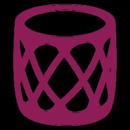 Tambor hervidor tambor silueta detallada