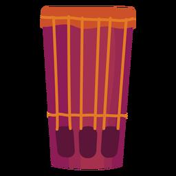 Drum kettle drum flat
