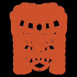Silhueta detalhada da máscara facial