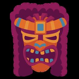 Máscara de apariencia facial plana