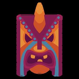 Máscara facial plana