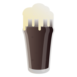 Foam beer glass dark flat