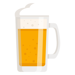 Foam beer light glass flat