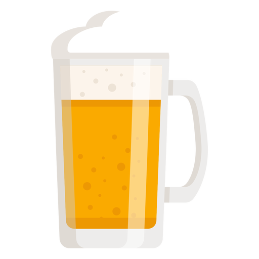 Cerveza de espuma cristal claro plano Transparent PNG