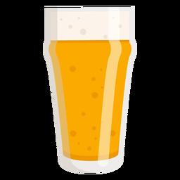 Vaso de espuma cerveza luz plana