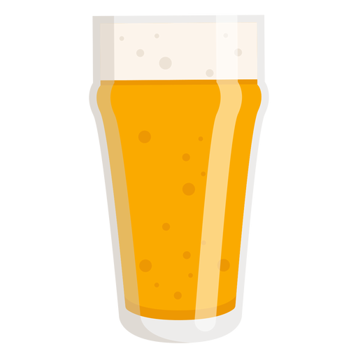 Foam glass beer light flat Transparent PNG