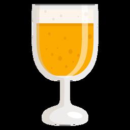 Vaso de espuma cerveza ligera plana