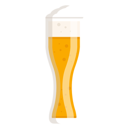Foam light beer glass flat