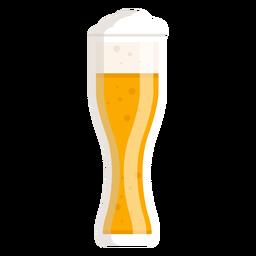Vaso de cerveza ligera de espuma plana
