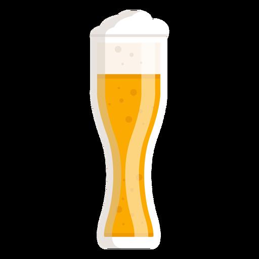 Foam light beer glass flat Transparent PNG