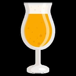 Foam light glass beer flat