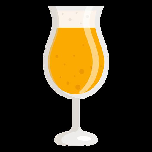 Cerveza de vidrio ligero de espuma plana Transparent PNG