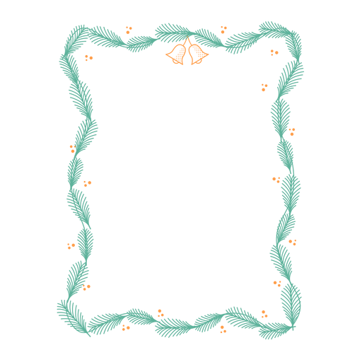 Frame branch bell badge sticker Transparent PNG