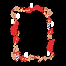 Adesivo ramo folha vela distintivo