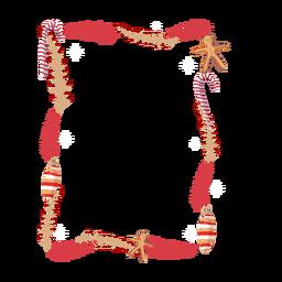 Adesivo de distintivo de bastão de doces de brinquedo de ramo de quadro